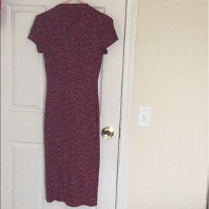 maroon midi dress